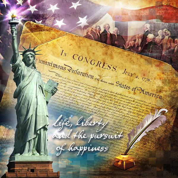 Declaration Of Independence Digital Art - Declaration Of Independence by Evie Cook