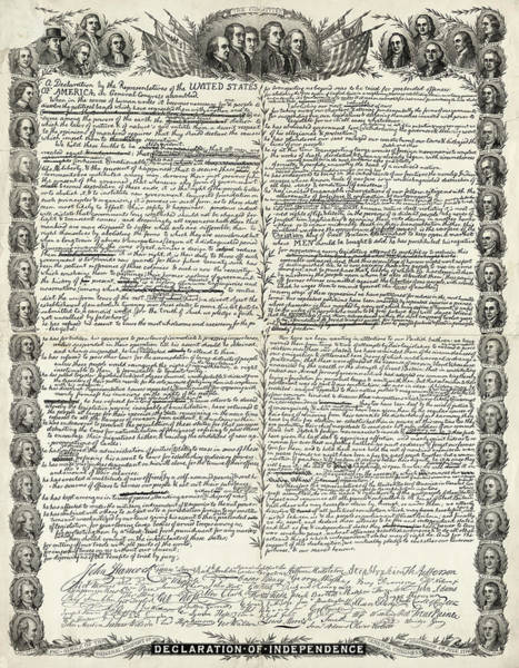 Wall Art - Painting - Declaration Of Independence by Charles Edouard Armand-Dumaresq
