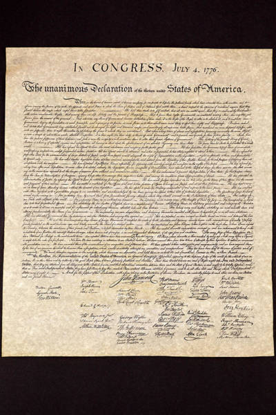 Photograph - Declaration Of Independence by Jack R Perry