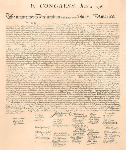 Painting - Declarations Of Independence by Declarations of Independence