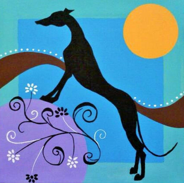 Wall Art - Painting - Deco Dog 2 by Jennifer Howard