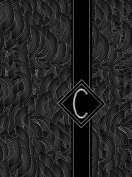 Digital Art - Deco Jazz Swing Monogram ...letter C by Cecely Bloom
