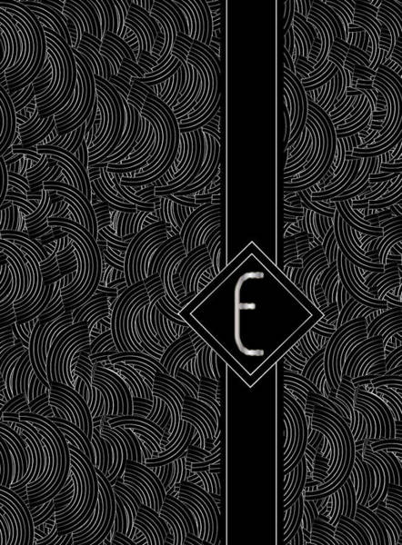 Digital Art - Deco Jazz Swing Monogram ...letter E by Cecely Bloom