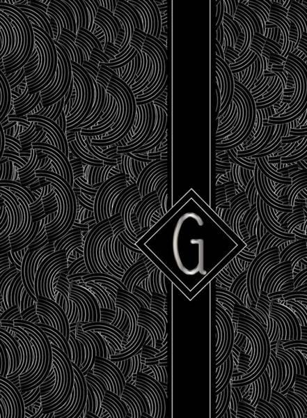 Digital Art - Deco Jazz Swing Monogram ...letter G by Cecely Bloom