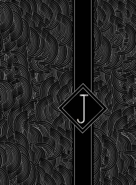 Digital Art - Deco Jazz Swing Monogram ...letter J by Cecely Bloom