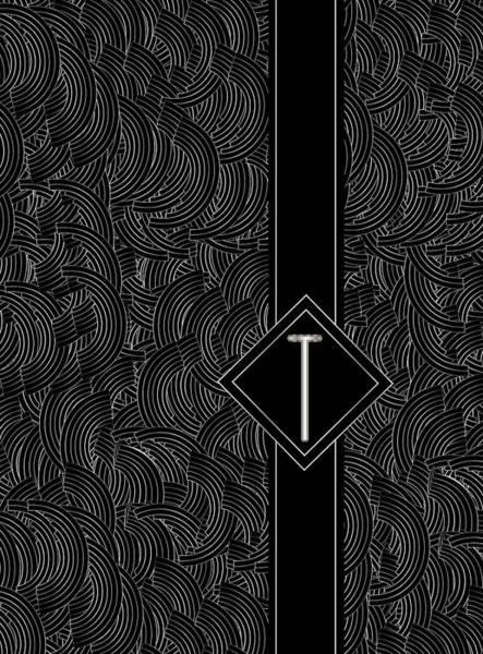 Digital Art - Deco Jazz Swing Monogram ...letter T by Cecely Bloom