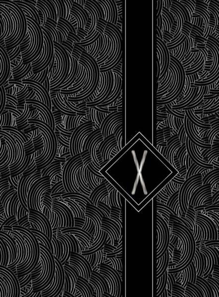Digital Art - Deco Jazz Swing Monogram ...letter X by Cecely Bloom