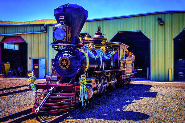 Gauge Photograph - Decorated Glenbrook Locomotive by Garry Gay