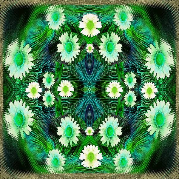 Lotus Mixed Media - Decorative Abstract Meadow by Pepita Selles