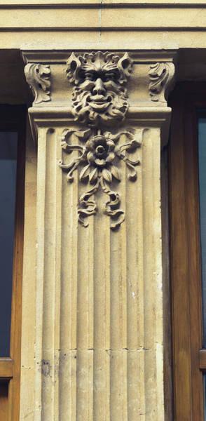 Photograph - Decorative Face On A Pillar by Jacek Wojnarowski