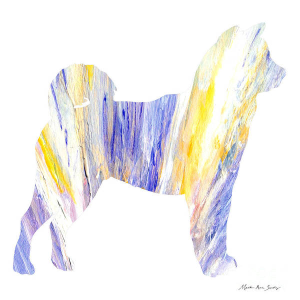 Painting - Decorative Husky Abstract O1015q by Mas Art Studio
