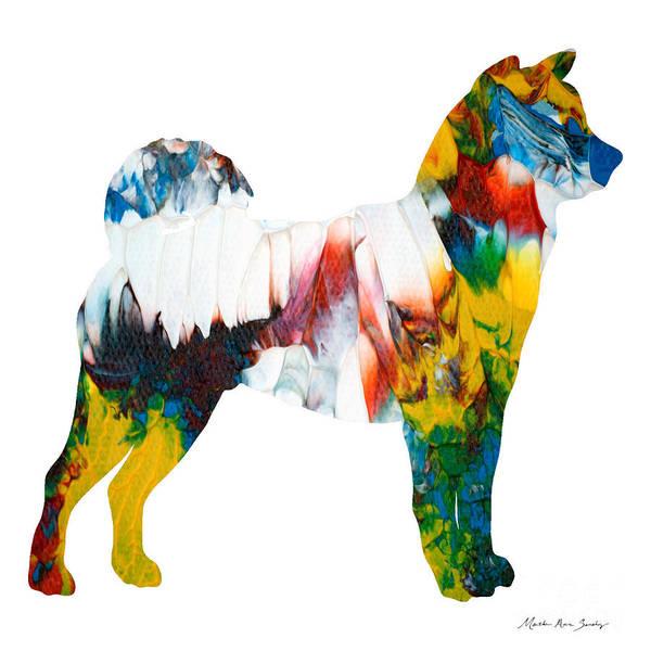 Decorative Husky Abstract O1015m Art Print