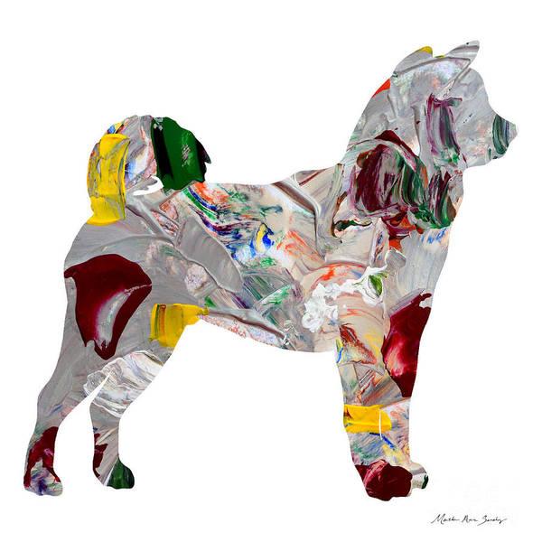 Painting - Decorative Husky Abstract O1015o by Mas Art Studio