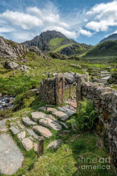 Snowdonia Wall Art - Photograph - Decorative Iron Gate  by Adrian Evans