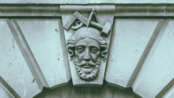 Photograph - Decorative Keystone Architecture Details A by Jacek Wojnarowski