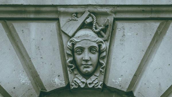 Photograph - Decorative Keystone Architecture Details D by Jacek Wojnarowski