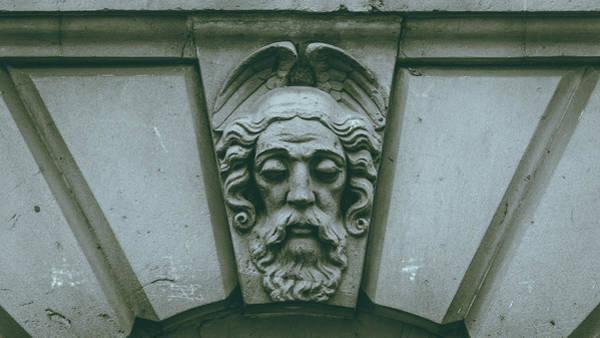 Photograph - Decorative Keystone Architecture Details E by Jacek Wojnarowski