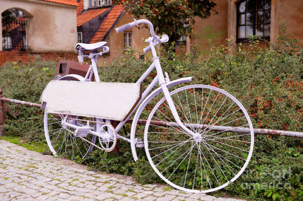 Wall Art - Photograph - Decorative Lavender Bike Blank Board by Arletta Cwalina
