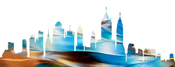 Painting - Decorative Skyline Abstract New York P1015a by Mas Art Studio
