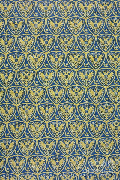 Wallpaper Mixed Media - Decorative Pattern With The German Coat Of Arms by German School