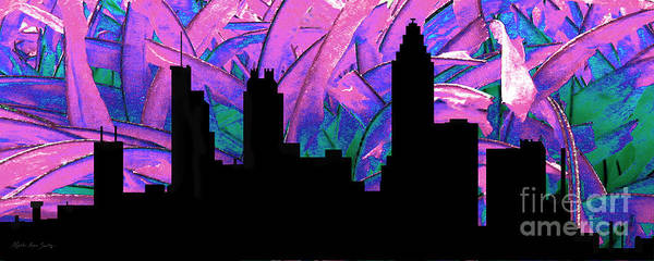 Painting - Decorative Skyline Abstract  Atlanta T1115h by Mas Art Studio