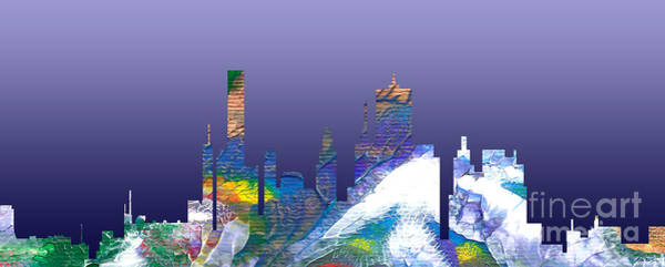 Painting - Decorative Skyline Abstract  Houston T1115b by Mas Art Studio