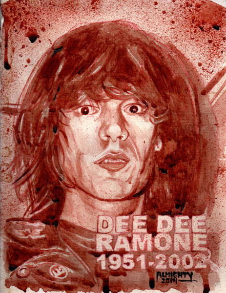 It Professional Painting - Dee Dee Ramone by Ryan Almighty