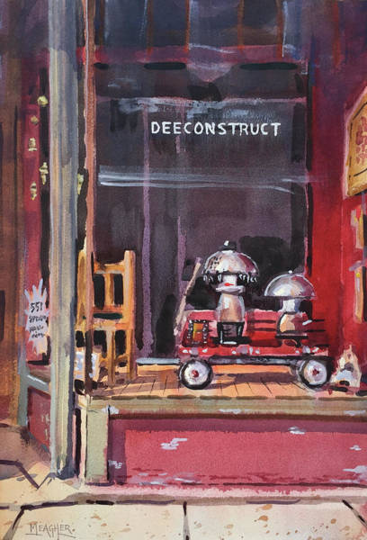 Red Wagon Painting - Deeconstruct by Spencer Meagher
