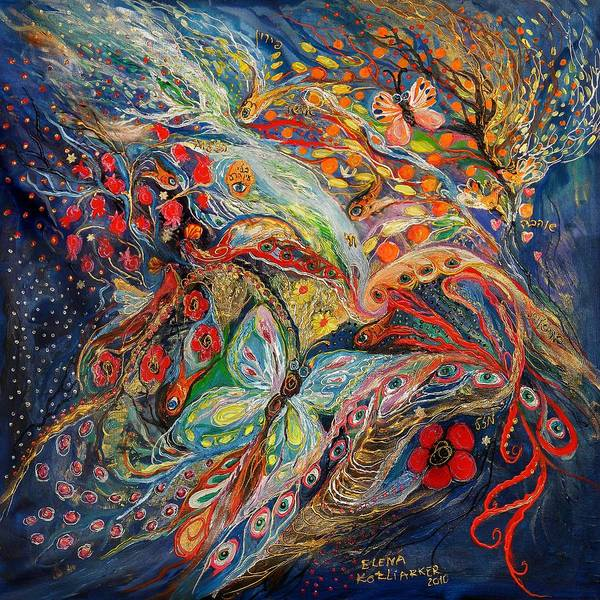 Wall Art - Mixed Media - Deep Blue Evening by Elena Kotliarker