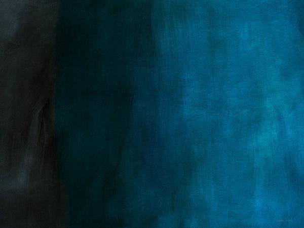 Wall Art - Mixed Media - Deep Blue Mood Horizontal- Abstract Art By Linda Woods by Linda Woods