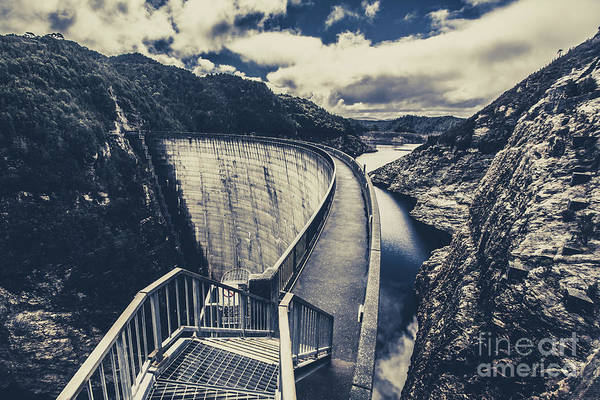 Dam Wall Art - Photograph - Deep Blue Ravine   by Jorgo Photography - Wall Art Gallery