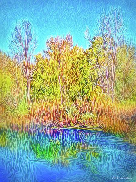 Digital Art - Deep Blue Reflections by Joel Bruce Wallach