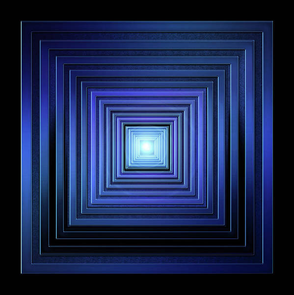 Showpiece Digital Art - Deep Blue Solstice by Andy Young