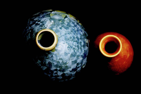 Photograph - Deep Burn Crystal Glaze Vessels 1761 H_4 by Steven Ward
