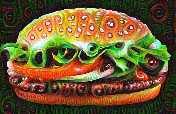 Digital Art - Deep Dream Burger by Matthias Hauser