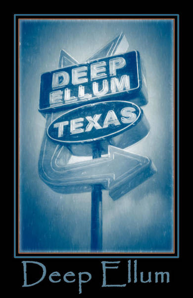 Photograph - Deep Ellum Blue Poster by Joan Carroll
