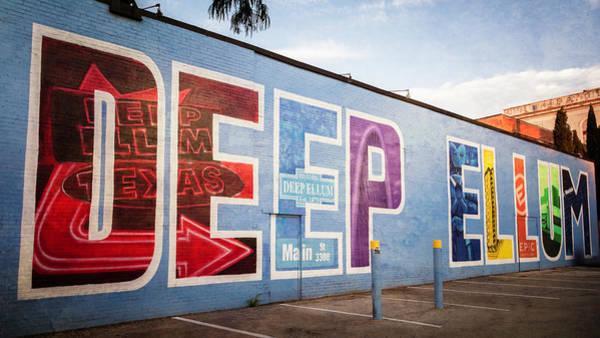 Photograph - Mural Dallas Texas by Joan Carroll
