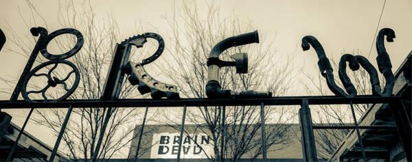 Photograph - Deep Ellum Metal Brew Pub Art - Dallas Sepia by Gregory Ballos