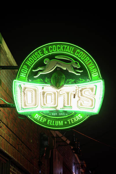 Photograph - Deep Ellum's Neon Dots by Rospotte Photography