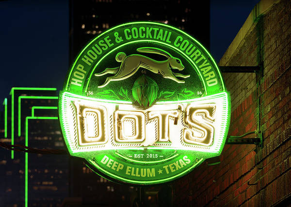 Photograph - Deep Ellum's Neon Dots V2 by Rospotte Photography