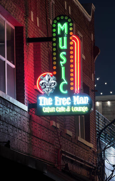 Photograph - Deep Ellum's Neon The Free Man by Rospotte Photography