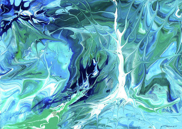 Fluid Acrylic Painting - Deep Forest 1.0 by Catherine Twomey