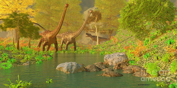 Primeval Painting - Deep Forest Dinosaurs by Corey Ford