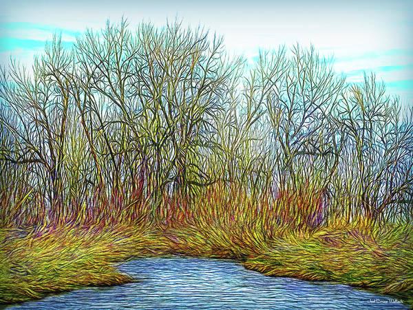 Digital Art - Deep Forest River by Joel Bruce Wallach