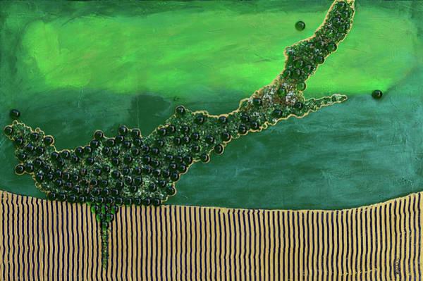 Wall Art - Mixed Media - Deep Impact by Donna Blackhall