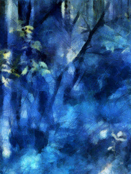 Painting - Deep In The Blue Forest by Menega Sabidussi