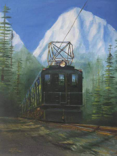 Wall Art - Painting - Deep In The Cascades by Christopher Jenkins