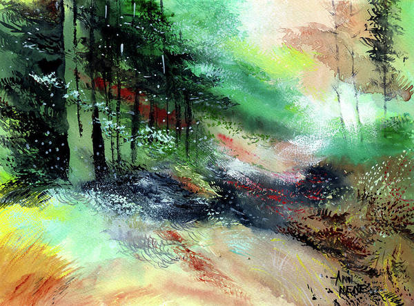 Painting - Deep Into The Jungle by Anil Nene