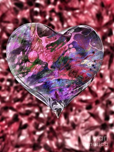 Digital Art - Deep Love by Rachel Hannah
