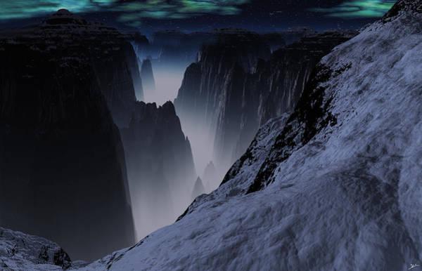 Wall Art - Digital Art - Deep Mysterious Mountain  by Heinz G Mielke